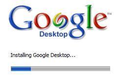 Google desktop installation screen