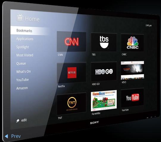 Google Tv Home page concept