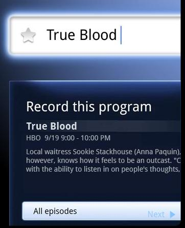 Google TV Search and record