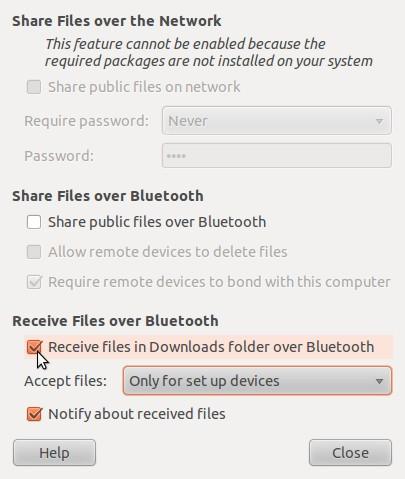 recieve bluetooth file downloads on ubuntu 10.10