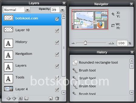 pixlr editor workspace