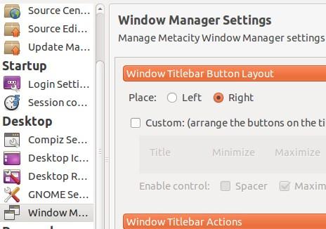 ubuntu tweak window button layout left to right