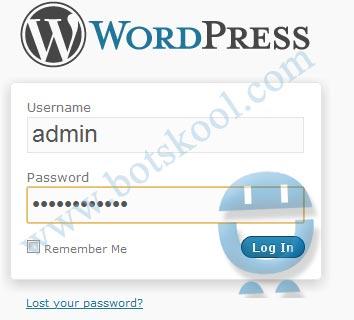 Ubuntu Cloud wordpress login