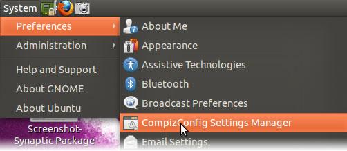 Manage compiz effect on ubuntu