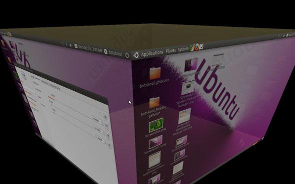 Compiz 3d desktop effect on Ubuntu