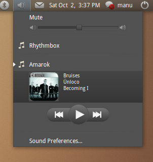 Ubuntu sound menu