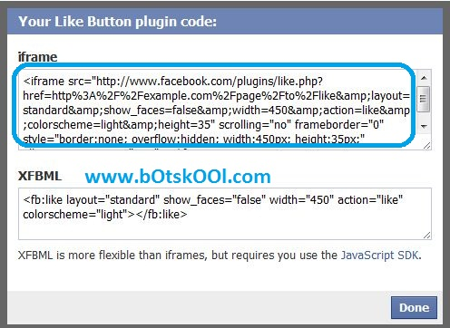 Getting Facebook Like Button Code