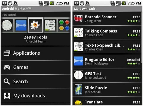 Android apps - compatible with all handsets