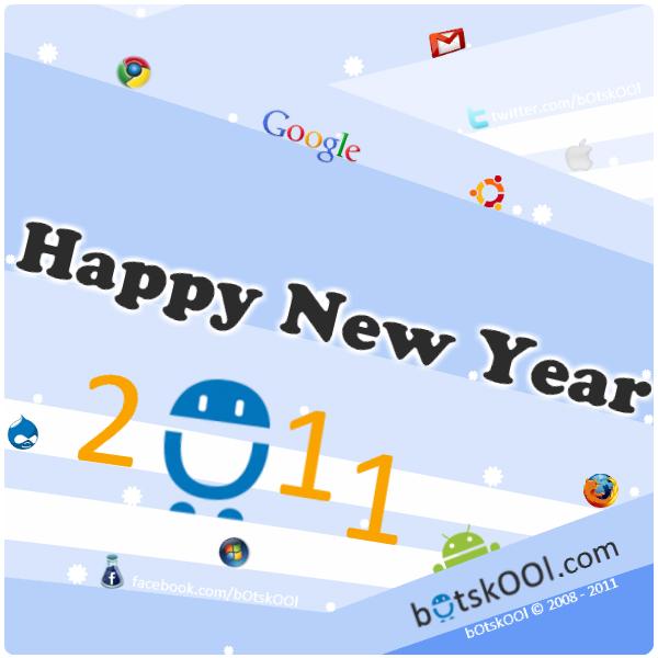 botskool happy new Year 2011 greeting card free