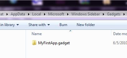 Windows 7 or windows gadet folder