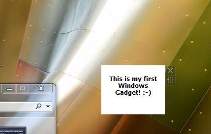 My first windows 7 gadget