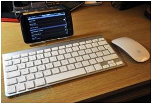 Dell Streak with external keyboard