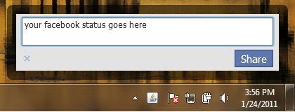 facebook desktop software how to update your status