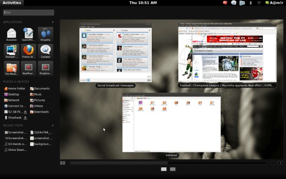 ubuntu 10.10 gnome shell screenshots