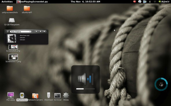 ubuntu 10.10 gnome shell sound indicator  screenshots