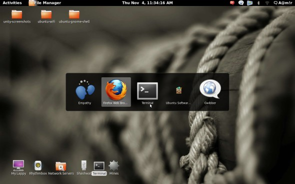 Ubuntu gnome shell alt tab screenshot