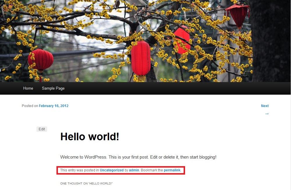 WordPress post by admin
