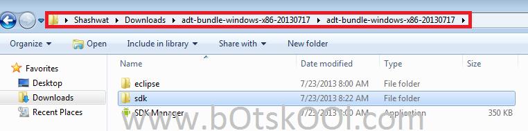 Android SDK Folder Path