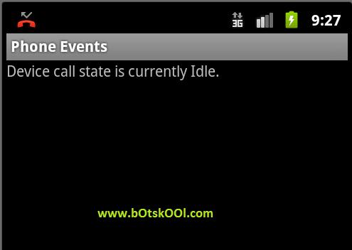 Initial Phone State