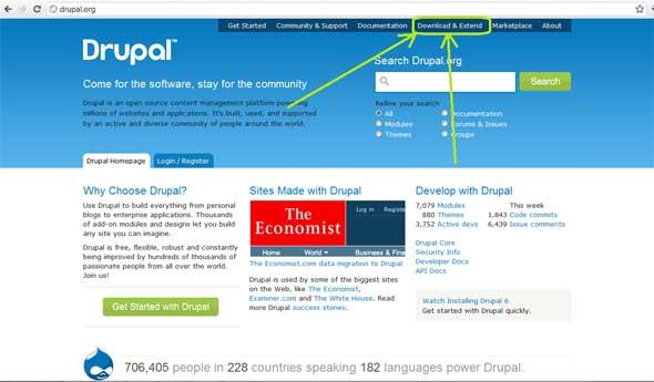 Drupal official website