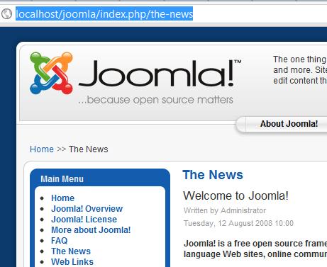 Joomla SEF URL