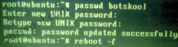 Ubuntu 10.10 password recovery