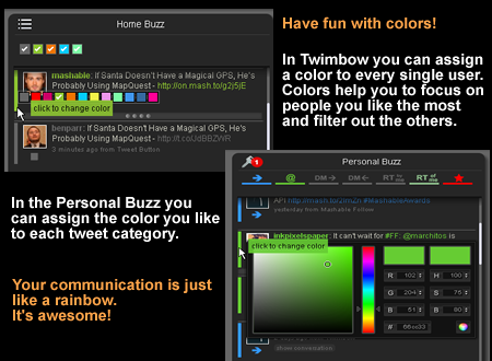 twimbow change user colour