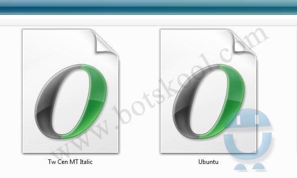 Ubuntu font in Windows