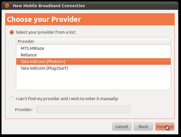 ubuntu 10.10 tata photon plus