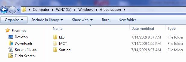 Globalization folder