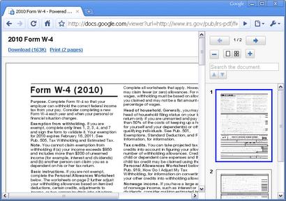 Docs PDF/PowerPoint Viewer Google Chrome Extension