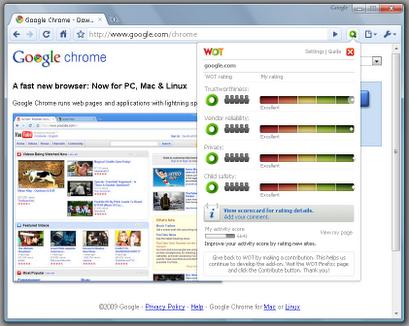 WOT   Google Chrome Extension